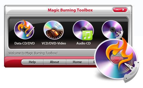 Magic Burning Toolbox 2009 - burn dvd, dvd burner, create dvd, record cd, record dvd, dvd creator - Magic Burning Toolbox is a Powerful program to burn audio, data to CD/DVD/Blu-Ra