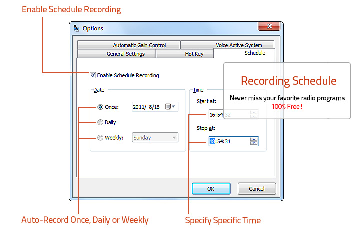 Automatically Control Recording