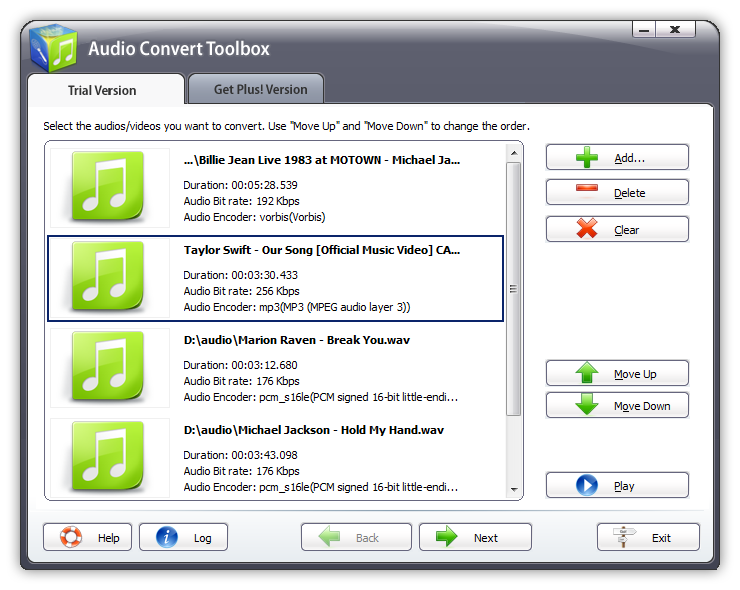 Audio Convert Toolbox Screen shot