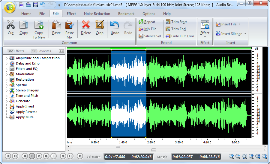 Audio Record Edit Toolbox Screen shot