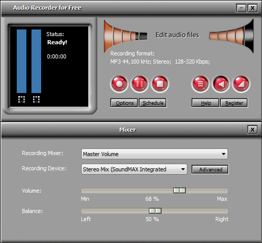 Audio Recorder for Free Screen shot
