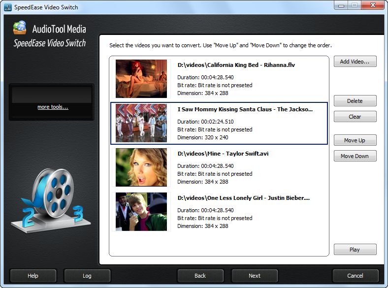 A video converter application that can handle all video formats.
